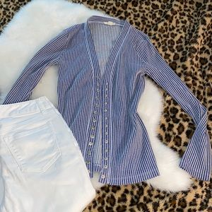 Stripped button down cardigan